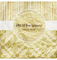 vintage pattern golden napkin on floral and stripe vector image vector image