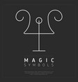 white simple element of magic vector image vector image