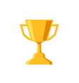 winner cup flat design icon trophy prize on white vector image vector image