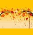 yellow falling leaves vector image