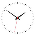 Simple classic clock on white vector image