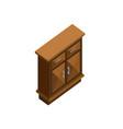 wood cabinet drawer isometric furniture design vector image