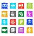 independence day icon set vector image