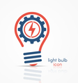 light bulb idea icon with electricity icon vector image