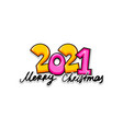 2021 cartoon new year number sketch style vector image