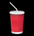 a blank soft drink cup vector image vector image