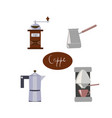 accessories for coffee making vector image