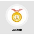 Award flat icon vector image vector image