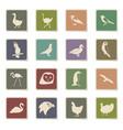 birds icon set vector image