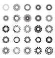 Black circle frame or mandala vector image