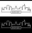boise skyline linear style editable file vector image vector image