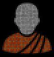 buddhist monk halftone icon vector image vector image