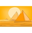 cartoon landscape pyramid vector image