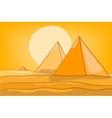 cartoon landscape pyramid vector image vector image