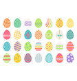colored easter eggs icons vector image vector image