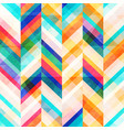 colored zigzag seamless pattern vector image vector image