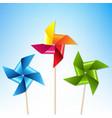 colorful pinwheels with blue sky vector image vector image