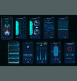 control car app mobile interface screens vector image vector image