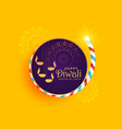 creative of diwali festival of light with burning vector image vector image