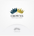 crown kings and queens logo vector image