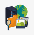 data center server folder picture search virtual vector image