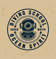 diving school round badge emblem or logo vector image vector image