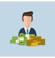 economy and money related icons image vector image