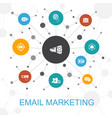 email marketing trendy web concept with icons vector image vector image