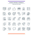 feedbacks and ratings icon set vector image vector image