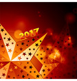 Festive golden stars 2017 over glowing background vector image vector image