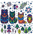 forest animals nesting dolls matryoshka dolls vector image vector image