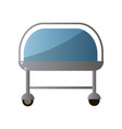 front hospital bed from recovery section for vector image