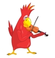 Funny Parrot Violinist vector image