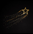 gold glittering spiral star dust trail sparkling vector image vector image