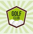 golf club balls sport tournament emblem vector image vector image