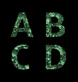 green camouflage letters vector image vector image