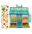 grocery shop facade vector image