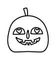 happy halloween celebration creepy pumpkin hearts vector image