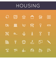 Housing Line Icons vector image