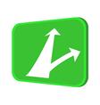 icon traffic board vector image vector image