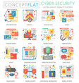 infographics mini concept online communication vector image vector image