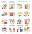 infographics mini concept online communication vector image vector image