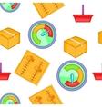 Internet setup pattern cartoon style vector image vector image