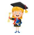 Kid in graduation costume