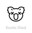koala died icon editable line vector image