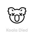 koala died icon editable line vector image