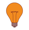 light bulb icon in colorful silhouette with brown vector image vector image