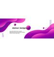 liquid abstract background violet wavy vector image vector image