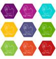 mandrill icons set 9 vector image