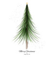 merry christmas design with green tree watercolor vector image vector image